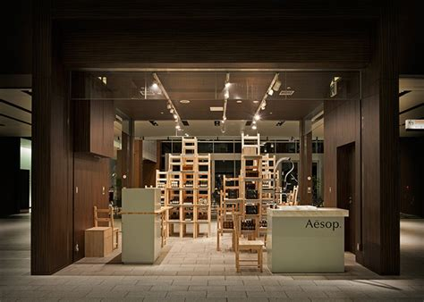 shop in shop interior aesop midtown installation pop up shop tokyo 187 retail