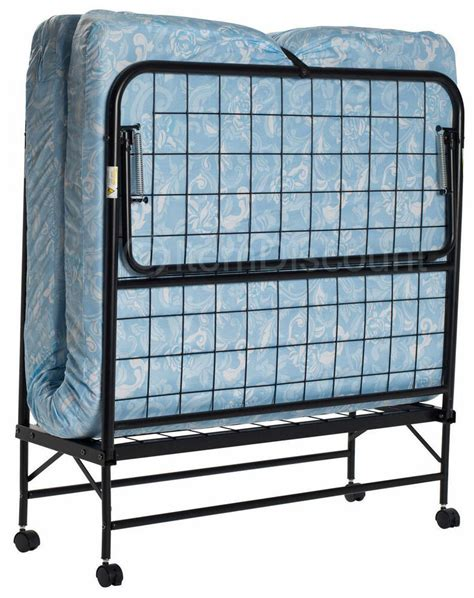 Portable Beds by Folding Bed Cot 5 Quot Foam Mattress Guest Roll Away