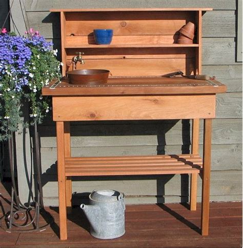potting bench sink potting bench faucet sink shelf by bluejaysworkshop on