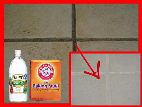 how to naturally clean grout and tiles