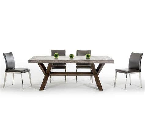 rectangular dining table set dining set w concrete rectangular table 44d1501v set