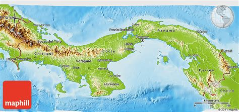 physical map of panama physical 3d map of panama
