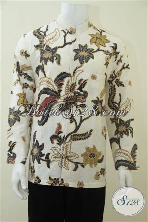 Baju Koko Pria Muslim Elegan baju koko batik pria lengan panjang warna putih elegan