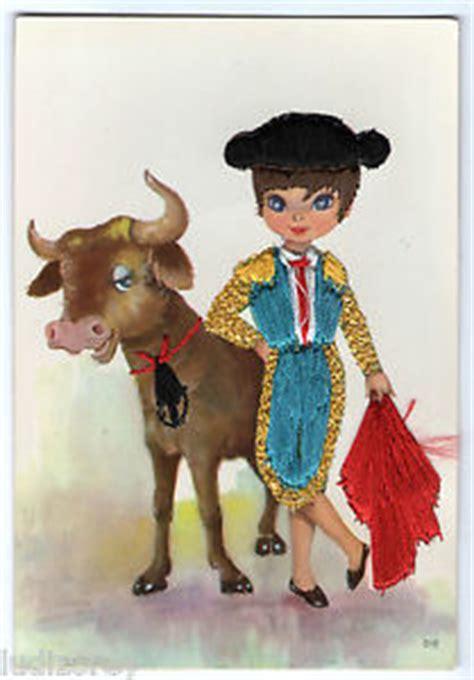 espagnol 100 thme cpsm 32 broderie dessin matador corrida toreador muleta taureau toro espagne ebay