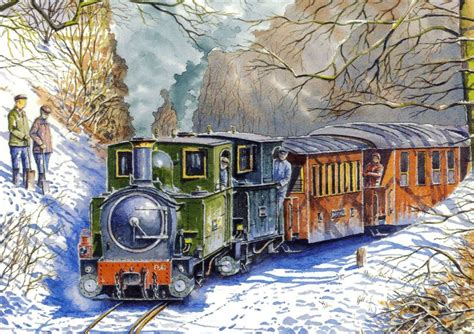 railway paintings by wynne b jones artist from north wales
