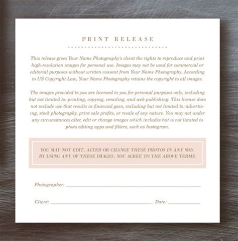 print release template charming photographer print release template photos