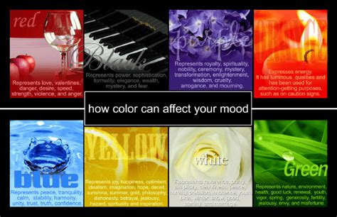 effects of colors on mood selecting the right color that will affect positive mood