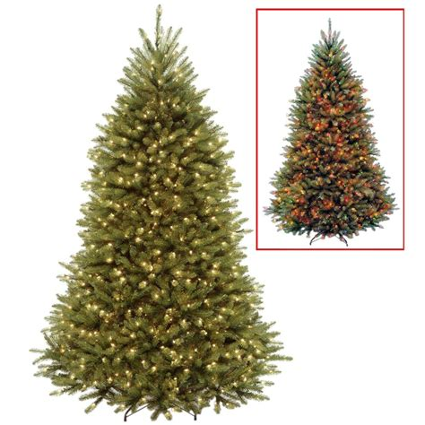 dunhill artificial tree corporation national tree company 7 5 ft powerconnect dunhill fir artificial tree with dual color