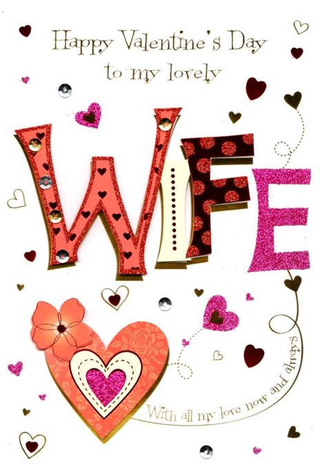 printable valentine card for wife lovely wife valentine s day greeting card cards love kates