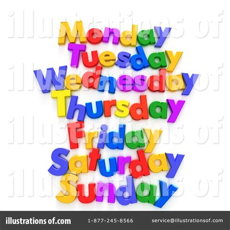 week day weekday clipart