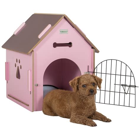 indoor dog houses for small dogs ollieroo dog house crate wooden kennel indoor condo for small dogs cats pet home with