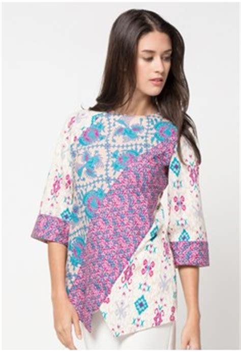 Baju Atasan 16 16 atasan batik kerja wanita modern terkini 1000 model