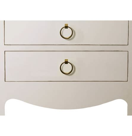 jacqui 3 drawer side table jacqui 3 drawer side table white by bungalow 5