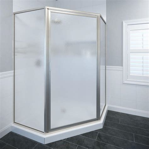 Basco Deluxe 26 1 2 In X 68 5 8 In Framed Neo Angle Angle Shower Doors
