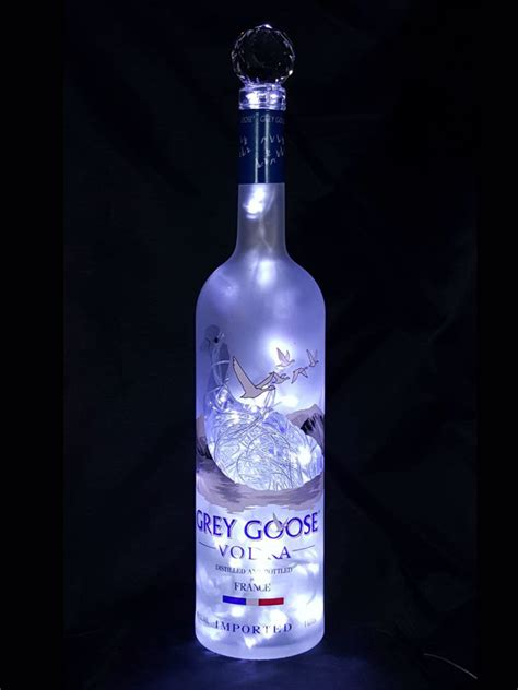 light with vodka grey goose liquor bottle light white led s the bottle
