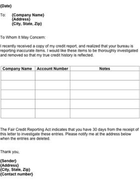 Credit Form 609 1000 Images About Printable Documents And Templates On Credit Report Car