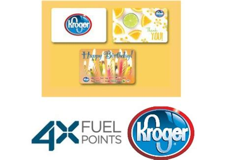 Kroger Gift Cards 4x Fuel Points - kroger deal 4x fuel points on gift cards southern savers