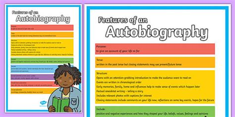 biography writing ks2 display features of an autobiography poster autobiography poster