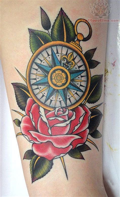 traditional compass tattoo neo traditional compass with sparrows and anchor