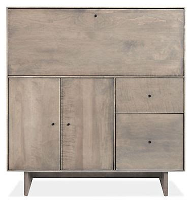 room and board hudson armoire hudson modern office armoire with wood base modern desks