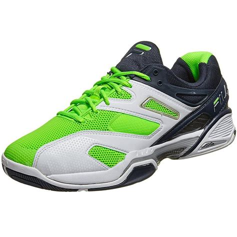 fila sentinel s tennis shoes white blue green