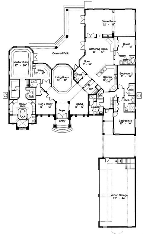 Grand Palladian Design in 2020 | House plans, How to plan