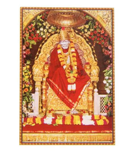 Home Decor Items Online Shopping In India by Bm Traders Shirdi Sai Baba Rolled Big Poster Buy Bm