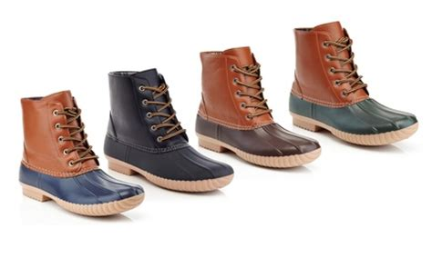 mens rubber duck boots up to 66 on s harry two tone duck boots groupon