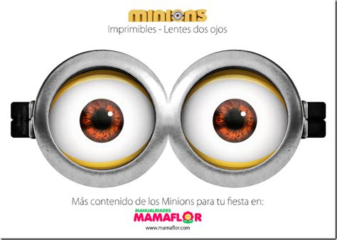 imagenes de minions sin lentes ojos minions gratis para imprimir manualidades mamaflor