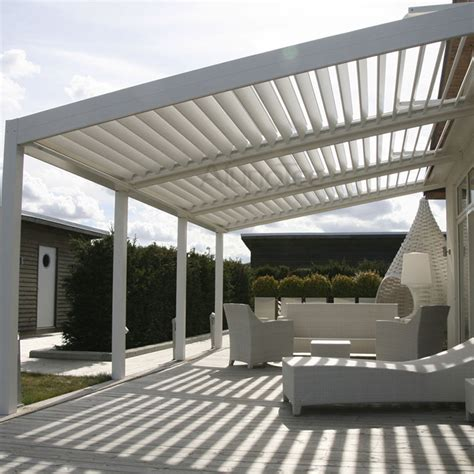 eclipse opening roof pergola with movable louvers
