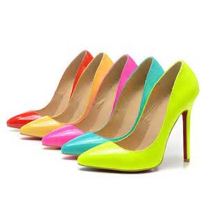 neon color shoes 3 inch stilettos promotion shopping for promotional