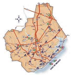 map of brazoria county transportation in brazoria county