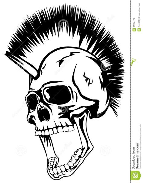 head punk skull stock vector image of concert fashion