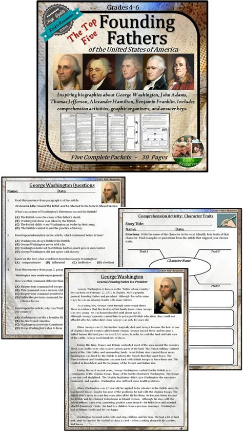 hamilton the graphic history of an american founding founding fathers reading comprehension activities the