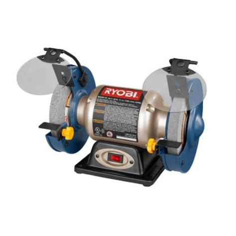 bench grinder ryobi ryobi 6 in bench grinder bgh6110sb the home depot