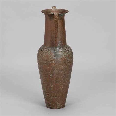 Hammered Copper Vase by Italian Hammered Copper Vase For Sale At 1stdibs