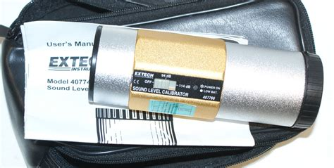 Extech Calibrator Sound 407766 by Sound Level Meters S Pre S Bi S Calibration