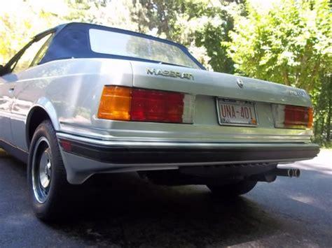 1987 maserati zagato 1987 maserati zagato convertible