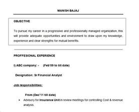 Exle Of Objectives On A Resume by Career Objective On Resume Template Resume Builder