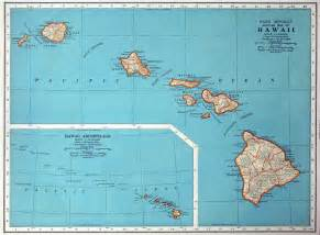 1937 vintage map of hawaii