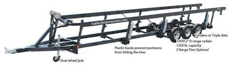 pontoon boat crank trailer crank triple tube center lift pontoon boat trailers
