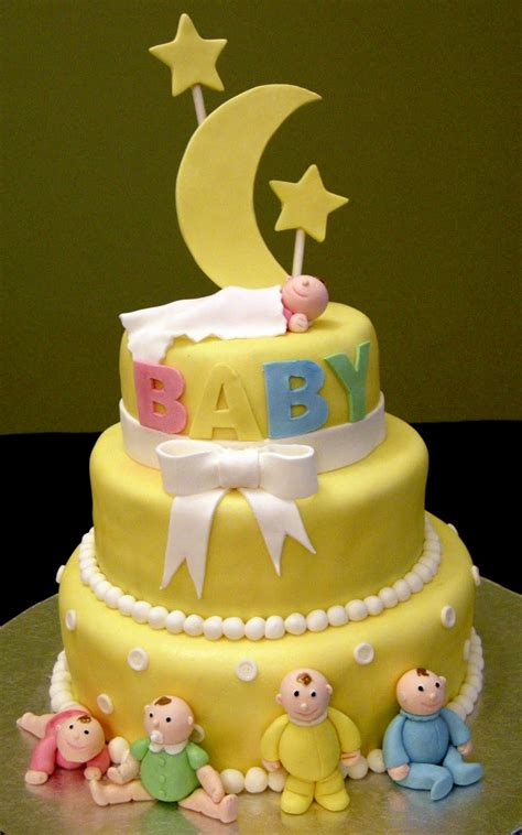 tiered baby shower cakes harshi s cakes bakes the moon with 3 tier