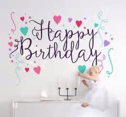 Personalised Graffiti Wall Stickers happy birthday sticker tenstickers