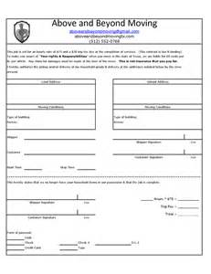 moving contract free printable documents