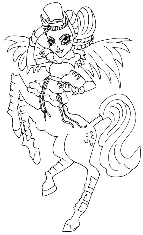 monster high avea trotter coloring pages avea trotter monster high coloring page free coloring