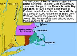 Massachusetts Bay Colony Map by A Glimpse Of America History Thinglink