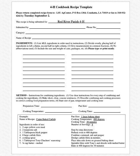 Cookbook Templates Create Your Own Recipe Book Word Pdf Printable Cookbook Template