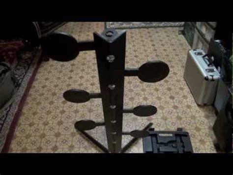 swinging steel targets homemade dual steel swinging spinning target pt 1