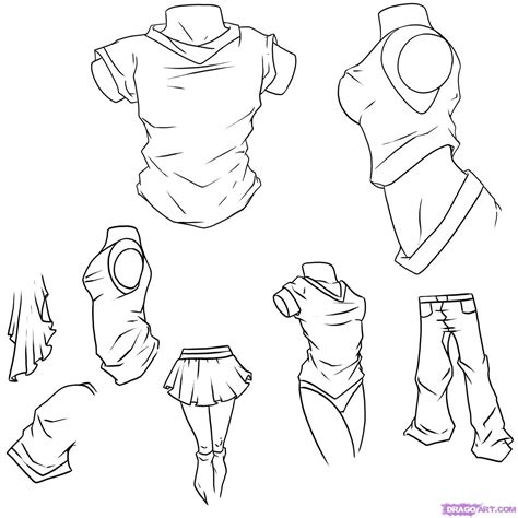 how to draw anime step by step clothes drawinghow to draw anime clothes step by step