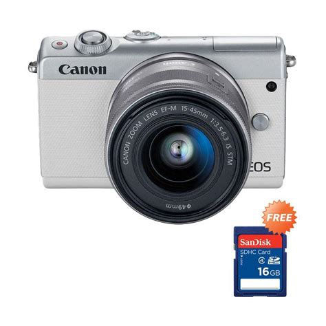 Canon Eos M100 Mirrorless Kit 15 45mm Is Stm jual canon eos m100 kit 15 45mm is stm mirrorless putih